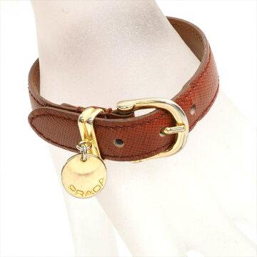 PRADA Prada Bracelet Bangle Safiano Saffiano Leather Brand Sundries Ladies' Bracelet [Pre]