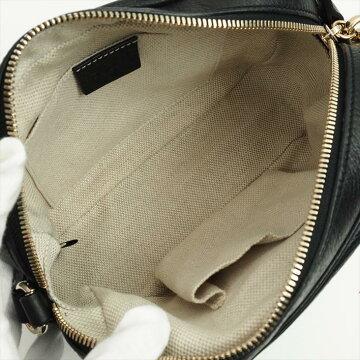 【美 品】 GUCCI Disco bag with Gucci fringe Soho 308364 · 498879 Calf leather ladies' bag shoulder bag 【pre-owned】