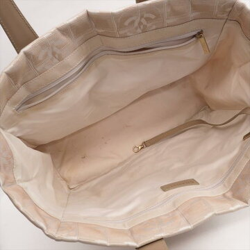 【美品】CHANELシャネルMMニュートラベルA15991ナイロンジャガードレディースバッグトートバッグ【中古】