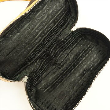 【美品】PRADAプラダボウリングバッグB11174キャンバス×レザーレディースバッグハンドバッグ【中古】