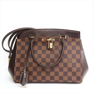 [Almost New] LOUISVUITTON Louis Vuitton Rivoli BB Damier N 41152 Damier Canvas Women's Handbag [Pre]
