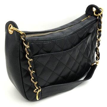 CHANEL Chanel Coco Mark One Shoulder Gold Chain Matrasse A 20993 Caviar Skin Women's Shoulder Bag [Pre]