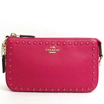 [Beauty goods] COACH coach lacquer rivet Norita Rislettek 1966380 Ladies' bag accessory pouch [pre]