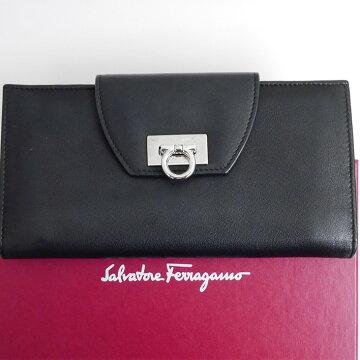 SalvatoreFerragamoフェラガモガンチーニ長財布IY-224209【中古】
