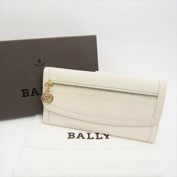 【今だけポイント5倍】BALLYバリーWホックかぶせ長財布【中古】