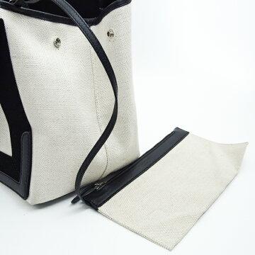 BALENCIAGAバレンシアガカバスポーチ付きトートバッグ【中古】