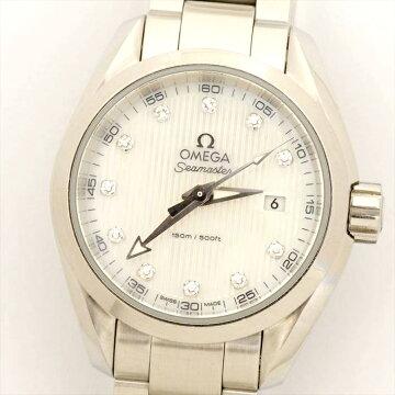 【ポイント3倍】OMEGAシーマスターアクアテラ111PダイヤSeamasterAquaterra腕時計新品仕上げオーバーホール済修理保障付中古