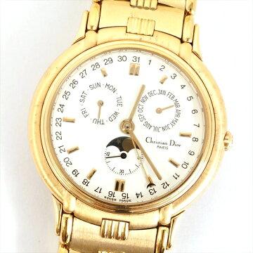 ChristianDiorディオールモデールデポーズムーンフェイズ423962腕時計【中古】