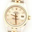 【オーバーホール・新品仕上げ済み】ROLEX ロレックス デイトジャスト 179171G ピンク Z214013(2006年製造) 【中古】 腕時計