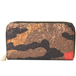 Furla Wallet FURLA Babylon Lame Glitter Camouflage Camouflage Pattern Accordion Zip Long Wallet Multi 858833 [Brand New Free Shipping Birthday Anniversary Celebration Present Regular Popular Ladies Safe Guarantee Packaging Same Day Shipping Free Delivery]