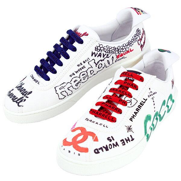 CHANEL sneakers womens CHANEL 37 23.5cm Pharrell...