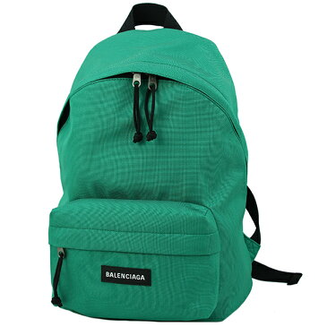 バレンシアガ バックパック Sサイズ エクスプローラー ナイロン リュックサック グリーン 緑 ロゴ BALENCIAGA レディース メンズ ショルダーバッグ ロゴ 軽い 軽量 小さめ 通勤 ビジネス カジュアル デイバッグ ダブルファスナー バック BAG ブランド 新品 送料無料