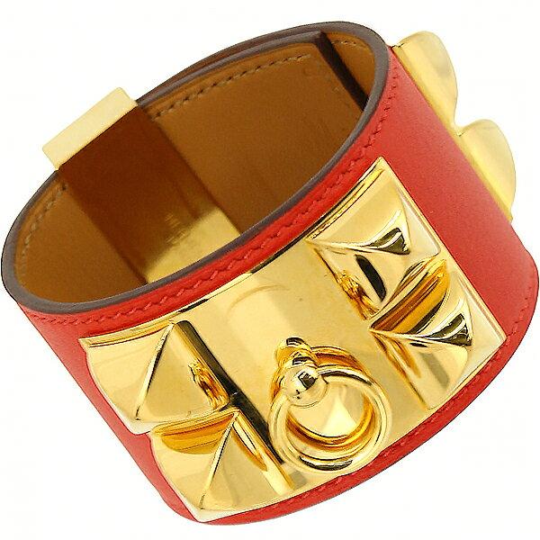 HERMES Leather Bracelet S HERMES
