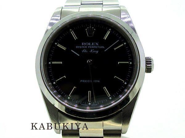 ROLEXロレックスエアキング14000A番34mmマルブラック黒アナログ文字盤ビジネスフォーマルカジュアルファッションアイテム