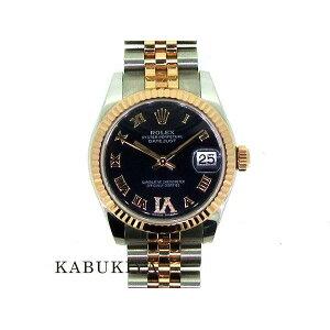 ROLEX Rolex Datejust 31 Purple Diamond 178271 Automatic winding Manual winding Mechanical calendar Navy Dial Combi Sten Pink Gold Ladies Popular Brand [Used] 19-24087Sh