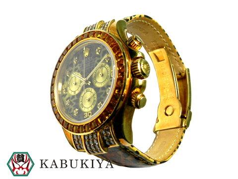 ROLEX ロレックスコスモグラフ デイトナ レオパード 116518 18KYG 腕時計 116598SACO カスタム品メンズ 人気ブランド【中古】20181129AO