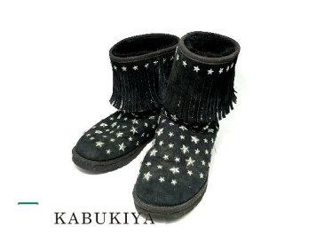 【中古】UGG×JIMMY CHOOアグ×ジミーチュウムートン ブーツ スタースタッズ ブラック 黒 2516-5483TM