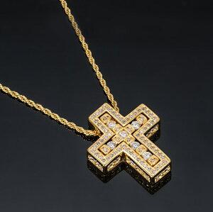 新品 22KGP クロスネックレス Mサイズ K22 22K 22金 ゴールド ゴールドGP ネックレス ナンバーネックレス メンズネックレス レディースネックレス 歌舞伎屋オリジナル