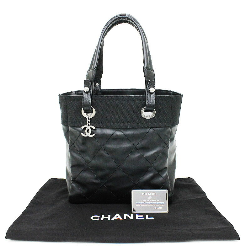 487b50536b0e [brand] CHANEL [the reference list price] 194,400 yen [material] Coating  canvas X calf [color] Black (silver metal fittings)