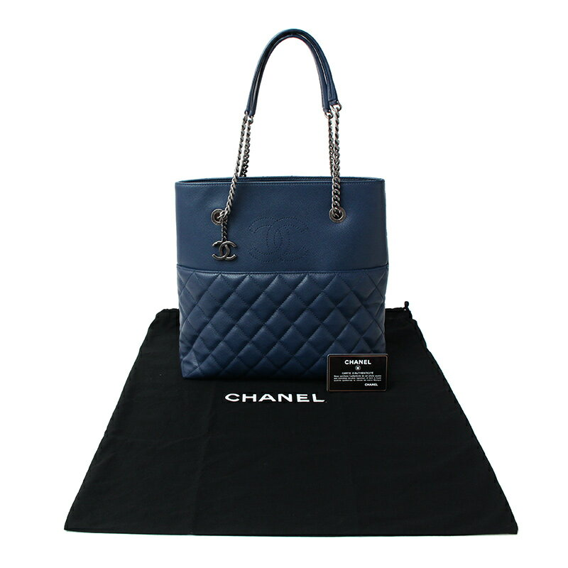 79e814c6004d [brand] CHANEL [the reference list price] 369,360 yen [material] Caviar  skin [color] Navy (vintage-like silver metal fittings)