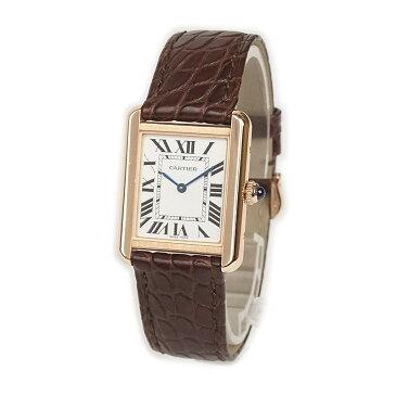 カルティエ タンクソロ SM 18KPG クォーツ レディース腕時計 W5200024【未使用 展示品】