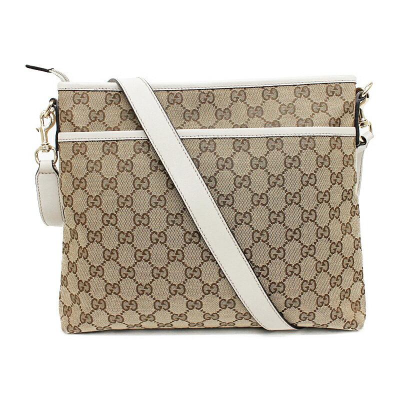 4d91c8396b3a [brand] GUCCI [material] GG canvas X leather [color] Beige X ivory (gold  metal fittings) [size (cm)] about W31 .5cm X H26cm X D5cm shoulder:  Approximately ...