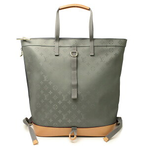 [New/unworn item] Louis Vuitton Monogram Titanium 2WAY Zip de Tote Backpack Rucksack Gray M43887 with box Unisex