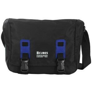 【送料無料】ショルダーバッグバッグショルダーワンショルダーユニセックスA4通勤通学軽量CUBESキューブバッグ送料無料メンズレディースバッグ黒斜めがけバッグ