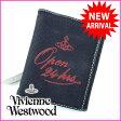 ヴィヴィアン・ウエストウッド Vivienne Westwood Wホック財布 メンズ可 オーブ ブラック キャンバス×レザー (あす楽対応) 人気 【中古】 A619