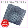ボッテガ・ヴェネタ BOTTEGA VENETA Wホック財布 メンズ可 イントレチャート ブラック レザー 【中古】 B502