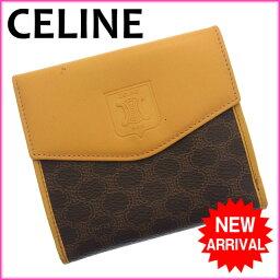 CELINE【セリーヌ】 二つ折り財布(小銭入れあり)  レディース