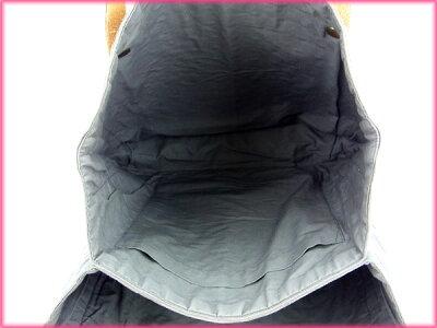 エルメスHERMESトートバッグ/ワンショルダー/メンズ可グレー綿×レザー(対応)(激安・人気)【】D954
