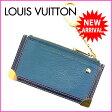 (良品) ルイヴィトン Louis Vuitton コインケース キーリング スハリ ブルー 【中古】 D956