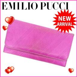 Emilio Pucci【エミリオ・プッチ】 長財布(小銭入れあり)  レディース