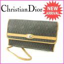 【中古】 クリスチャン・ディオール Christian Dior ショルダーバッグ レディース ブラック××ベージュ PVC×レザー ヴィンテージ F778 .