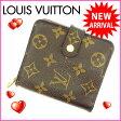 ルイヴィトン Louis Vuitton 二つ折り財布 ラウンドファスナー メンズ可 /コンパクトジップ モノグラム M61667 ブラウン PVC×レザー (参考定価60900円)【中古】 J1282
