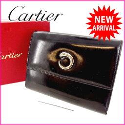 CARTIER【カルティエ】 7770 三つ折り財布(小銭入れあり)  レディース