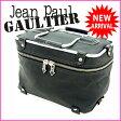 ジャンポール・ゴルチェ Jean Paul Gaultier ハンドバッグ /バニティ フレームバニティ ブラック×シルバー ナイロン×メタル (あす楽対応)(廃盤レア・ 美品 )【中古】 J2199