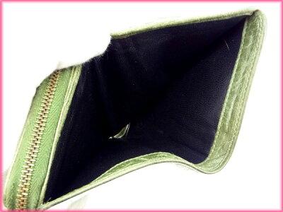 バレンシアガBALENCIAGA二つ折り財布/ラウンドファスナー/メンズ可グリーンレザー(対応)(人気・)【】J2487