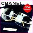シャネル CHANEL サングラス /メンズ可 ココマーク グレー (あす楽対応) 人気 【中古】 J3289 ★