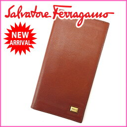 Salvatore Ferragamo【サルヴァトーレフェラガモ】 長財布(小銭入れなし)  レディース
