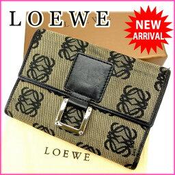 LOEWE【ロエベ】 三つ折り財布(小銭入れあり)  レディース
