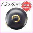 カルティエ Cartier コインケース メンズ可 パンテール ブラック×ゴールド レザー (あす楽対応) 人気 良品【中古】 J5582