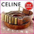 セリーヌ CELINE ベルト メンズ可 ブラウン×ゴールド レザー (あす楽対応) 人気 良品【中古】 J5597