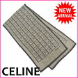 セリーヌ CELINE スカーフ レディース プリント フラワー×チェーン グレイ系 Silk 100% 【中古】 M894