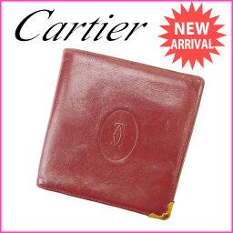 CARTIER【カルティエ】 二つ折り財布(小銭入れあり)  レディース