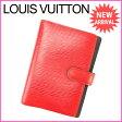 ルイヴィトン Louis Vuitton 手帳カバー カード入れ×3 メンズ可 アジェンダPM エピ R20057 レッド PVC×レザー (あす楽対応) (参考定価39900円)【中古】 J7203
