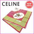 セリーヌ CELINE スカーフ メンズ可 ボルドー 100%シルク (あす楽対応) 美品 【中古】 F969