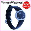 ヴィヴィアンウエストウッド Vivienne Westwood 腕時計 クォーツ メンズ可 オーブ クロコダイル調 ラウンドフェイス シルバー×ブラック ステンレススチール×レザー 【中古】 J7545