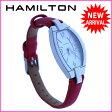 ハミルトン HAMILTON 腕時計 クォーツ レディース トノーフェイス シルバー×ホワイト×レッド ステンレススチール×サテンレザー 【中古】 J7662